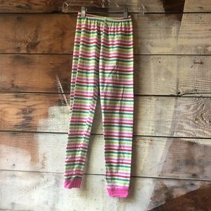 Pajamas - Kid's Size 10 Striped Pajama Pants / Leggings